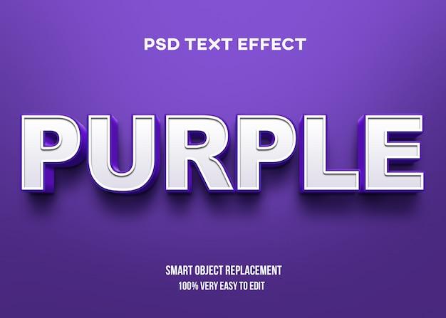 Efeito de texto em negrito roxo Psd Premium