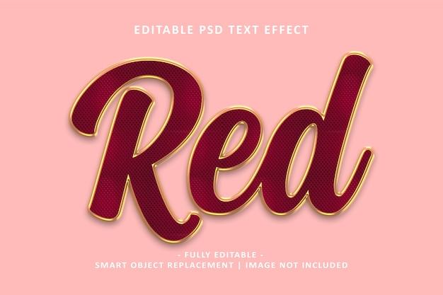 Efeito de texto em ouro vermelho Psd Premium