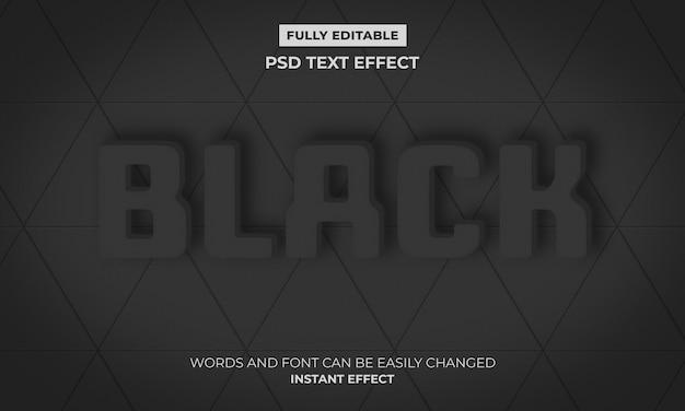 Efeito de texto em preto Psd grátis