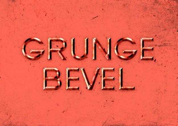 Efeito de texto em relevo com estilo grunge Psd grátis