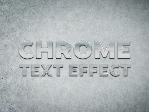 Efeito de texto esculpido em metal cromado Psd Premium