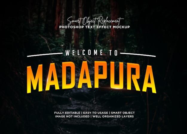 Efeito de texto madapura estilo 3d Psd Premium