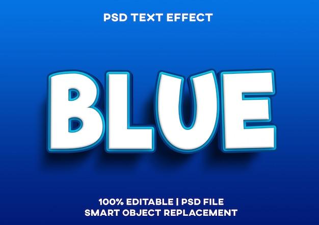 Efeito de texto mar azul Psd Premium