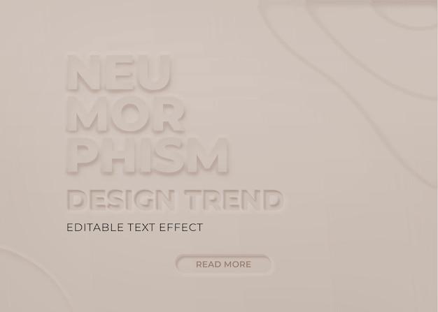 Efeito de texto neumorfo Psd grátis