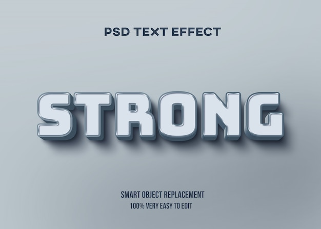 Efeito de texto pastel brilhante azul Psd Premium