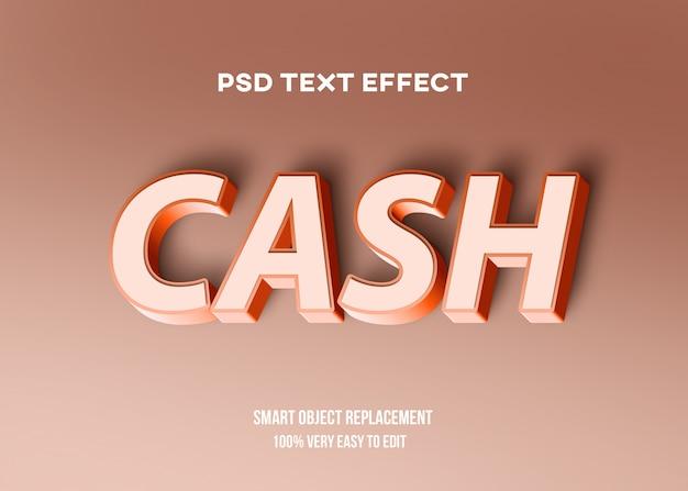 Efeito de texto pastel vermelho 3d Psd Premium