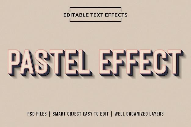Efeito de texto pastel Psd Premium