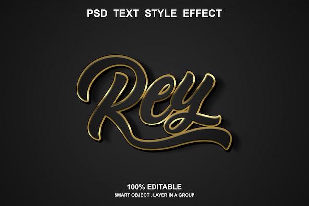 Efeito de texto rey Psd Premium