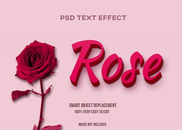 Efeito de texto rosa Psd Premium