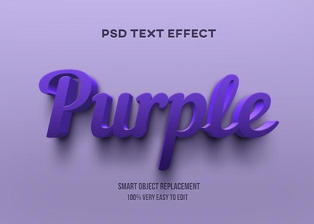 Efeito de texto roxo 3d Psd Premium