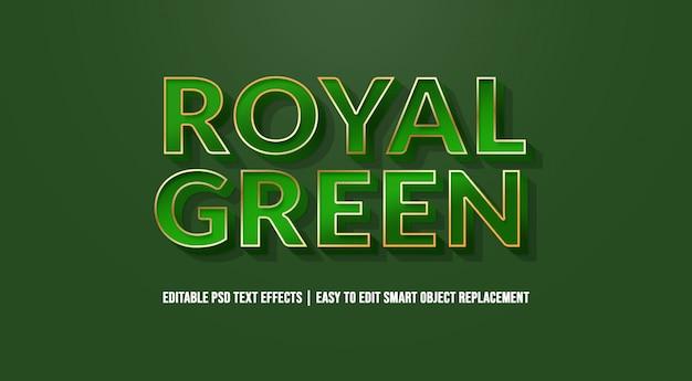 Efeito de texto verde real premium psd Psd Premium