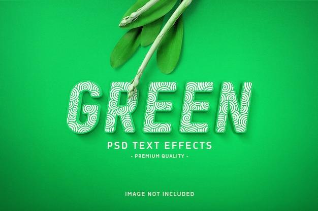 Efeito de texto verde Psd Premium