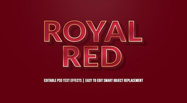 Efeito de texto vermelho real premium psd Psd Premium