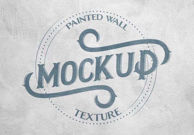 Efeito de textura de parede pintada mockup Psd Premium