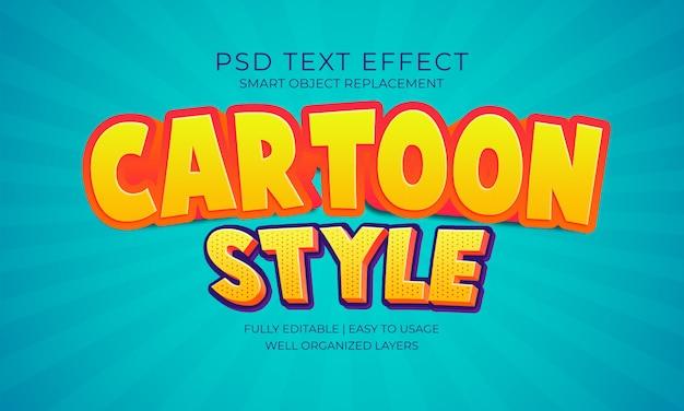 Efeito do texto do estilo dos desenhos animados Psd Premium