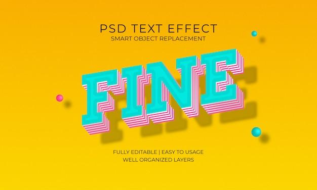 Efeito do texto fino Psd Premium