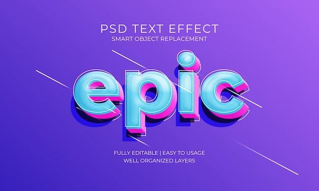 Efeito épico do texto Psd Premium
