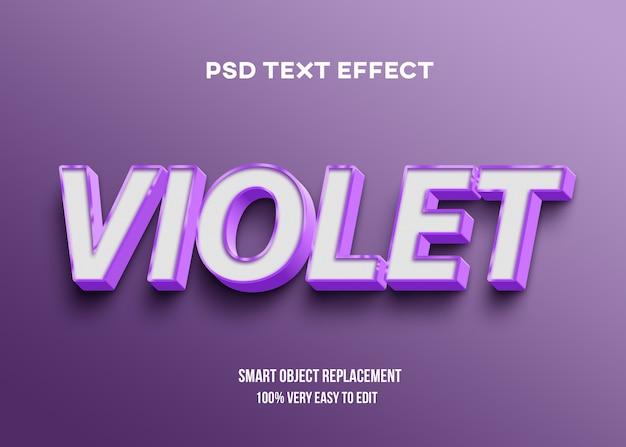 Efeito forte de texto violeta em negrito Psd Premium