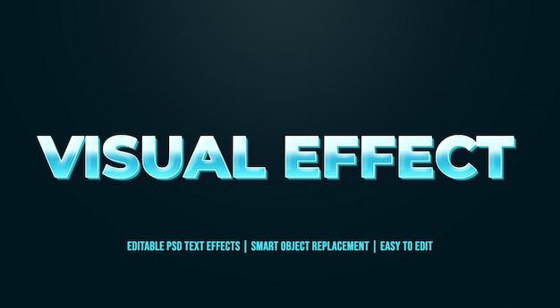 Efeito visual - efeitos de texto antigos do vintage Psd Premium