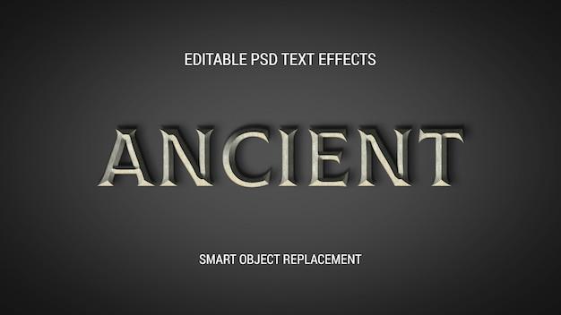 Efeitos de texto editáveis antigos Psd Premium