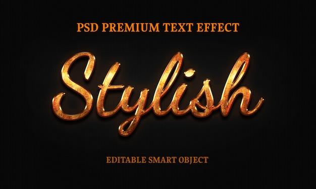 Effectportrait elegante do texto da mulher bonita Psd Premium