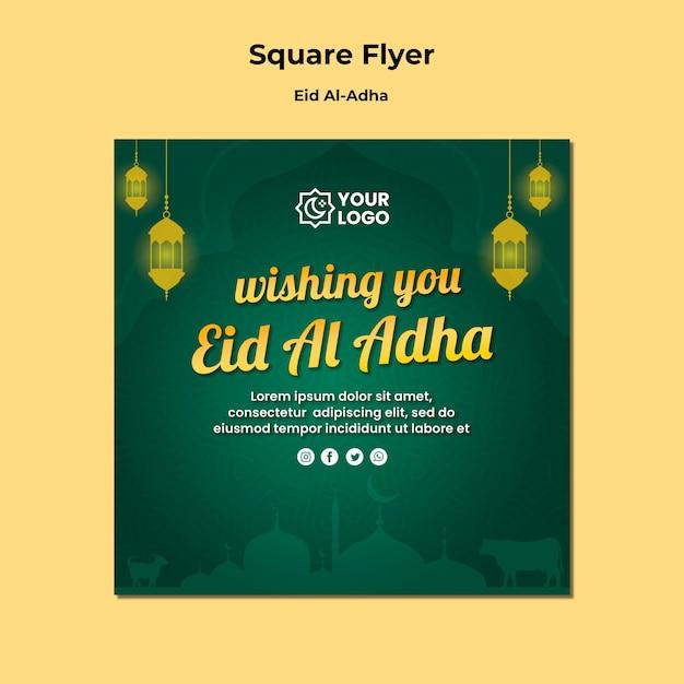 Eid al adha flyer design Psd grátis