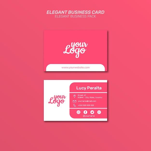 Elegante cartão de visita Psd grátis