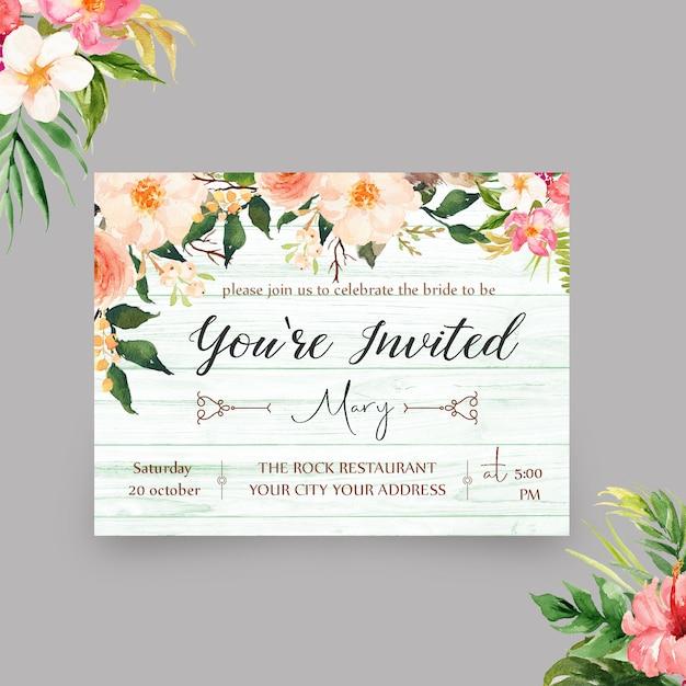 Elegante você é modelo convidado do convite Psd Premium