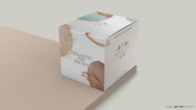 Embalagem de maquete de caixa em renderização 3d Psd Premium