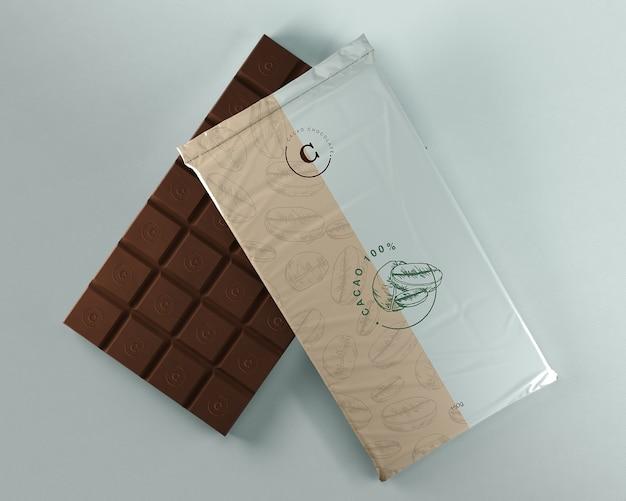 Embalagem de plástico para tablet de chocolate Psd grátis