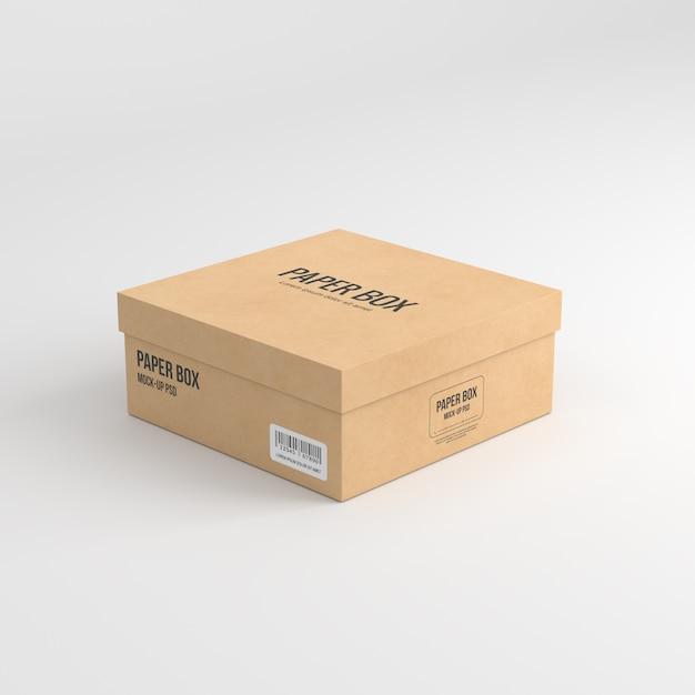 Embalagem de saco de papel Psd Premium