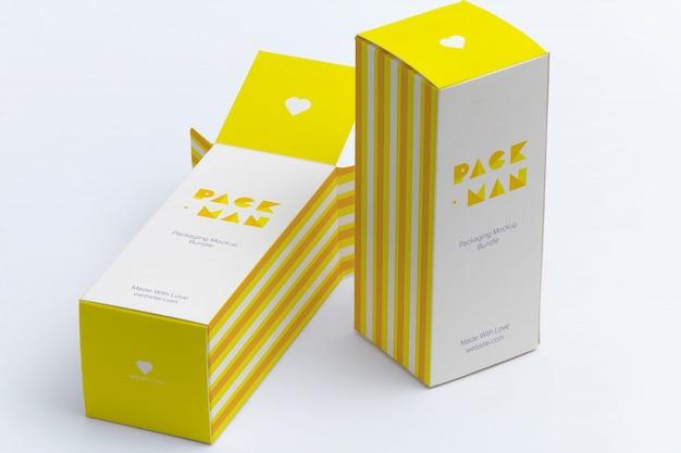 Embalagem mock up projeto Psd Premium