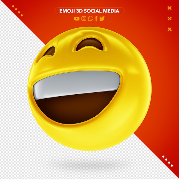 Emoji 3d muito sorridente e feliz Psd Premium