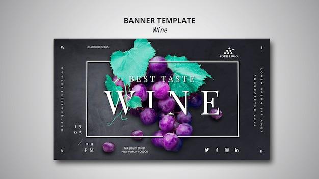 Empresa de vinho de modelo de banner Psd grátis