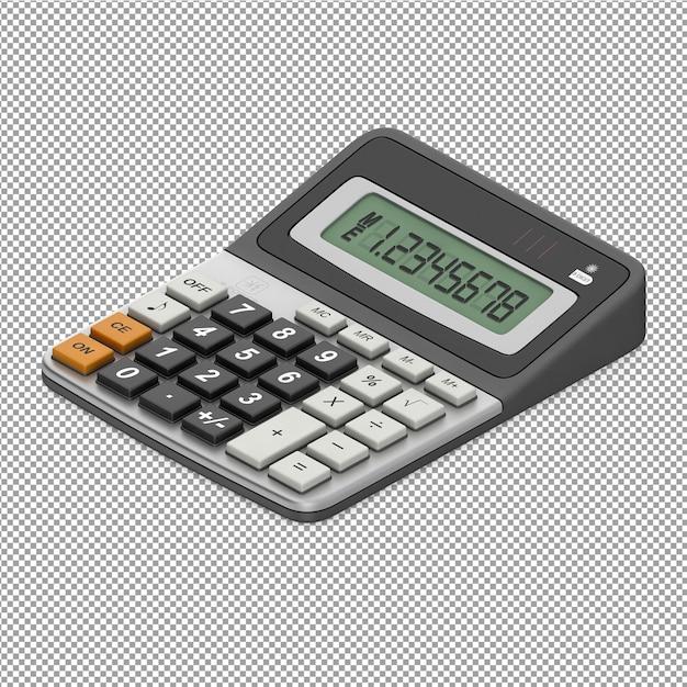 Equipamento de escritório isométrico 3d render Psd Premium