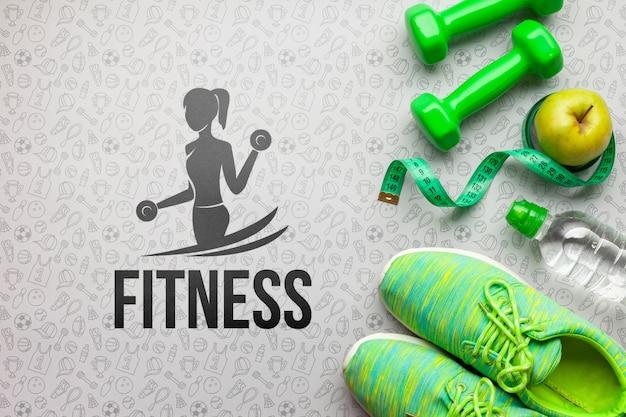 Equipamento de treino para aulas de fitness Psd grátis