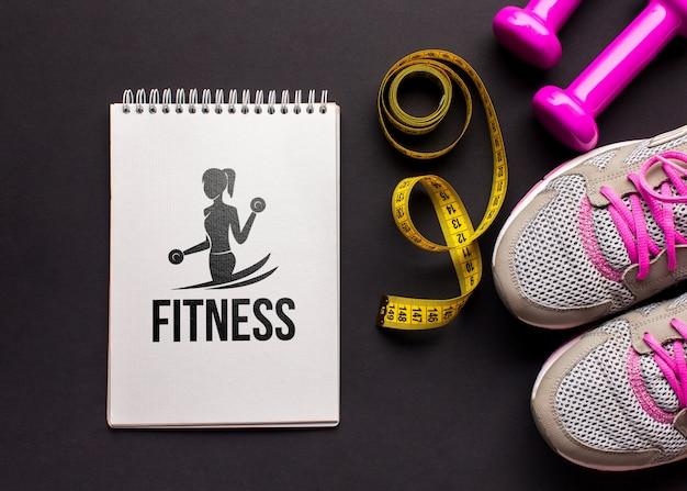 Equipamentos de aula de fitness mock-up Psd grátis