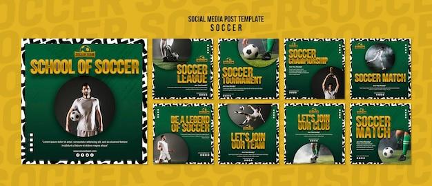 Escola de futebol post de mídia social Psd grátis