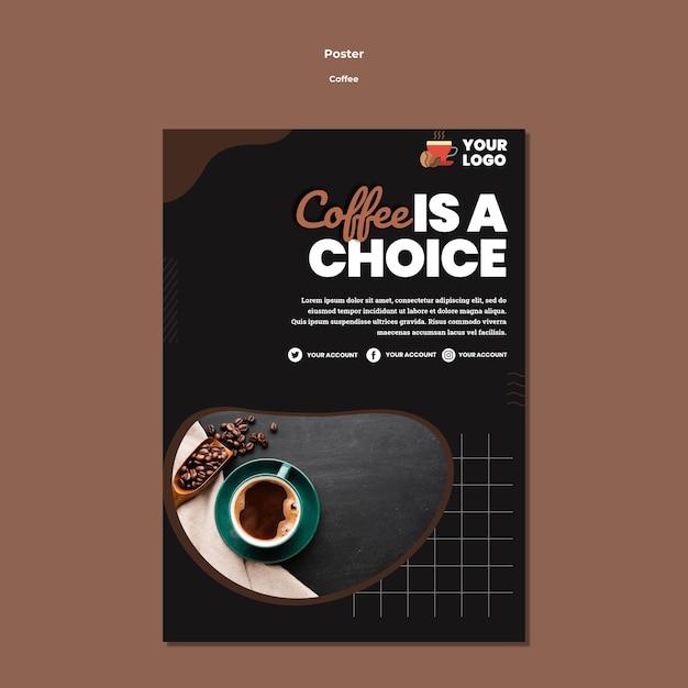 Escolha o modelo de pôster de café Psd Premium