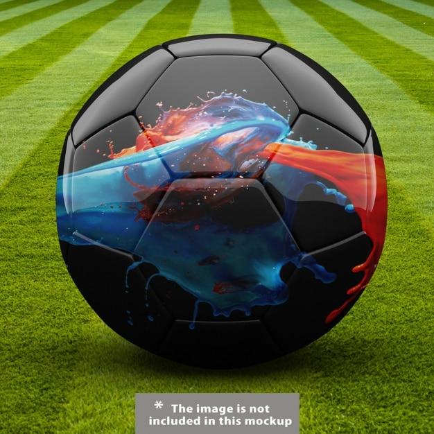 Esfera do futebol mock up projeto Psd grátis