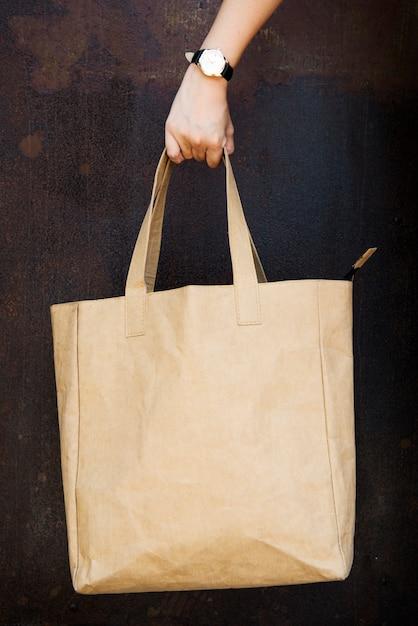 Espaço de design na sacola em branco Psd Premium