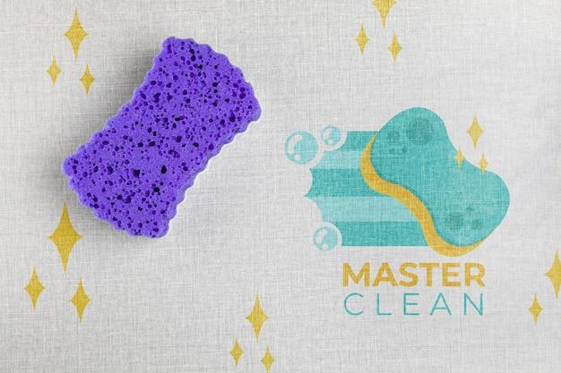 Esponja de banho violeta master clean Psd grátis