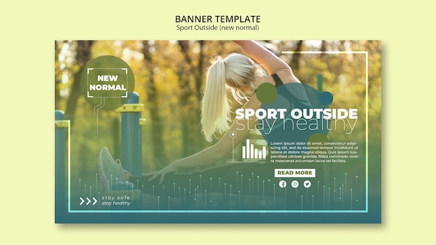 Esporte fora modelo de banners Psd grátis