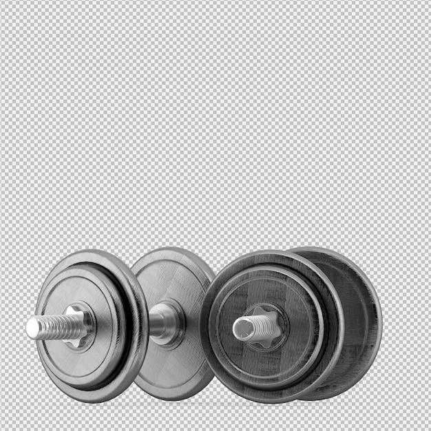 Esporte isométrico e equipamentos de ginástica renderização em 3d Psd Premium