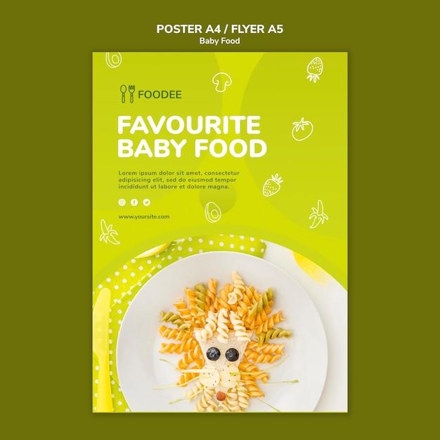 Estilo de cartaz de comida para bebê Psd grátis