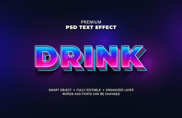 Estilo de efeito de texto retrô de gradiente de luz 3d Psd Premium
