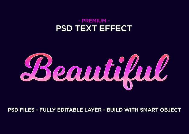 Estilo de efeito de texto. roxo rosa lindo. Psd Premium