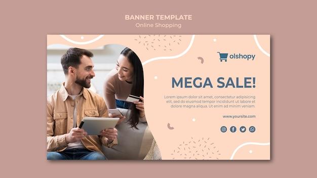 Estilo de modelo de banner de compras online Psd grátis