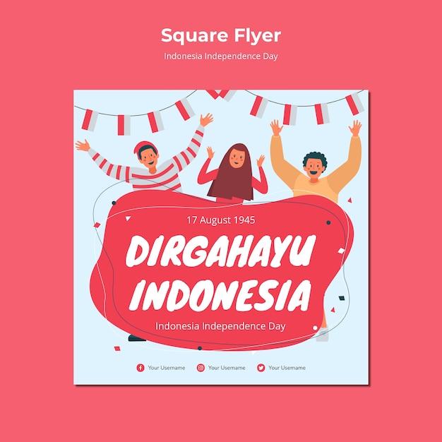 Estilo de panfleto de dia da independência da indonésia Psd grátis
