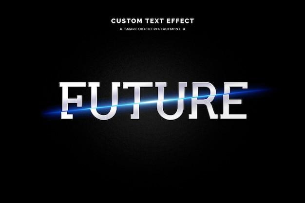 Estilo de texto 34 futurista Psd grátis